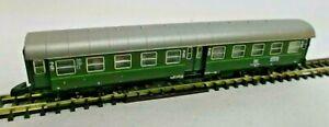 Märklin Z Gauge Conversion Wagon Mitteleinstiegswagen 2. Class Green