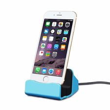 Docking Station da Tavolo per Iphone Apple 5S 5C se 6 7 7S 6S PLUS Blu