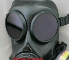 More details for fm12 lenses for gas mask respirator - black outserts genuine
