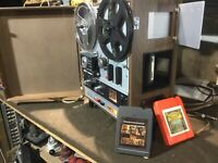 Vintage AKAI X1800SD REEL TO REEL  & 8 Track tape recorder built in speakers