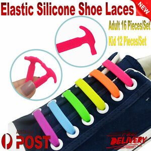 Easy Lazy No Tie Elastic Silicone Shoe Laces Cool Guy Shoelaces Kids Adult Laces