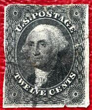 1851 US Stamp SC #17 12c Washington  CV:$250