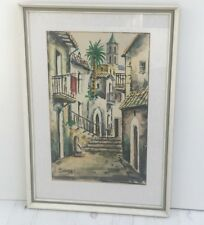 VINTAGE PICTURE BY A LOLOMEN 23.5 X 16ins FRAMED GOOD CONDITION