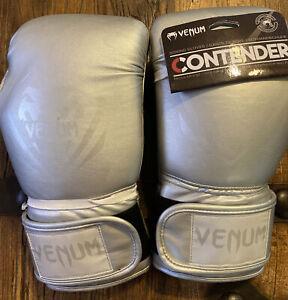 Venum Contender Boxing MMA Gloves Rare! Silver/Grey 16oz
