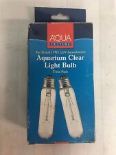 Aqua Culture Aquarium Clear Light Bulb, 2 Count Pre-tested 15W/120V Incandescent
