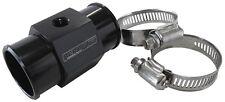 "38mm 1-1/2"" Black Inline Coolant Temperature Gauge Adapter by Aeroflow"