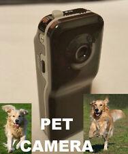 Pet Puppy Dog Collar Tag Wireless Pinhole Color Video Camera Cam w/ Sound Audio