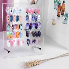 50Pcs False Nail Art Polish Gel Art Tip Sample Practice Display Board Swatch AU