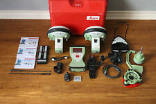 Leica GS15 GPS GNSS Glonass Base Rover 450-470 RTK Setup w/ CS15 Data Collector