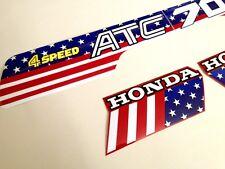 ATC 70 USA Flag Custom Stickers Tank Fender Vintage Trike 1985 Sticker Honda