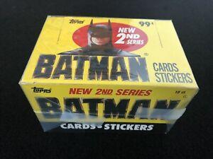 Topps Batman 1989 Trading Card 2nd Series Box Near Mint Case Fresh
