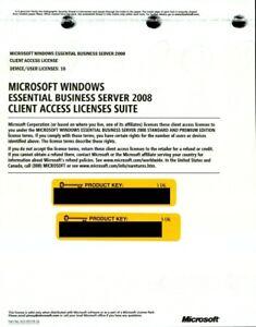 Microsoft Windows Essential Business Server 2008 10 CAL