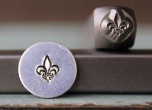 SUPPLY GUY 6mm Fleur de Lis Metal Punch Design Stamp SGCH-177