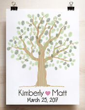 Wedding tree guest book alternative print 12x16 for up to 50 guests