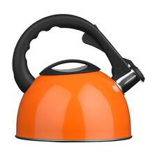 Whistling Kettle In Orange Colour Modern Features Attractive Design Brand New