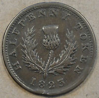 Nova Scotia 1823 Half Penny Token Mid Grade NS-1A4 Look at the Pictures