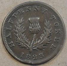 Nova Scotia 1823 Half Penny Token Mid Grade NS-1A4 Look at the Pictures