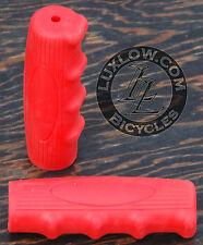 Red Vintage Schwinn Bicycle Oval Rubber Grips Cruiser Bike Handlebar Phantom