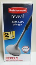 Rubbermaid Reveal Clean & Dry Plunger 2 Pack W/ NeverWet Coating Free Shipping