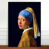 "Johannes Vermeer The Girl With a Pearl Earring ~ FINE ART CANVAS PRINT 8x12"""