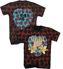 Nirvana-Kurt Cobain-Heart Shaped Box-X-Large Maroon Tie Dye T-shirt