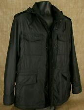UNIQLO Men Jacket SIZE XL Hoodie Black Long Sleeves Stand Up Neckline Lining