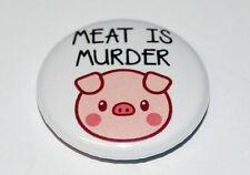 MEAT IS MURDER Button Badge 25mm / 1 inch VEGETARIAN/VEGAN
