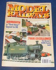 MODEL RAILWAYS SEPTEMBER 1989 - SIDMOUTH/7MM EXCELLENCE