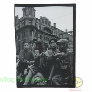 """Matted 8""""x6"""" old photograph people at the bund of Shanghai, ROC China 1949s"""