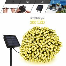 200 Led Solar String light Holiday Party Christmas Outdoor Garden decation light