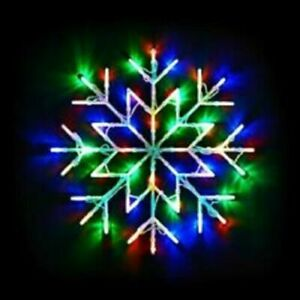 50 LED Snow Flake Window Light Christmas Party Decoration Light - Multi Coloured