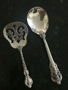 Wallace Grand Baroque Sterling Silver Sugar & International Dubarry Spoons