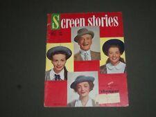 1950 APRIL SCREEN STORIES MAGAZINE - CLIFTON WEBB & MYRNA LOY COVER - SP 7507