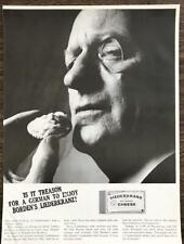 1964 Borden's Liederkranz Cheese Print Ad Is it Treason for a German to Enjoy It