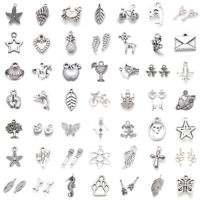 Antique Silver Alloy Charms Pendants Bulk Crafting Jewelry Accessory Making