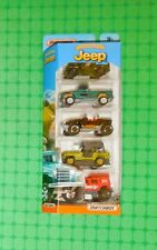 2017 Matchbox  -  Jeep  - Anniversary Edition -  5-Pack   - w/ Willys & Wrangler