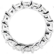 3.41 Carat Platinum Diamond Ring Eternity Wedding Band Lucida Style Vs clarity