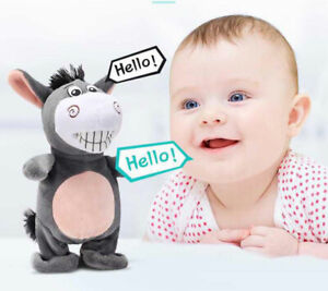Donkey Moving Talking Walking Plush Toys Voice Recording Birthday Gifts For Kids