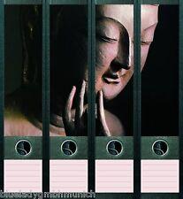 File Art 4x Ordner-Etiketten BUDDHA Ordner RÜCKENSCHILDER Sticker 003