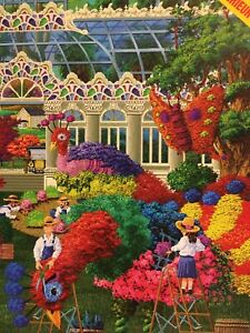 2000 Piece Finchley Paper Arts Puzzle  Conservatory Topiary Day - with poster D1