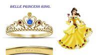 Round Cut Multi-Stone 14K Yellow Gold Finish Belle Disney Princess Ring
