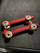 Rollergards Ice Skate Guards Wheels Roller Hockey Wheeled One Size Fits All RED