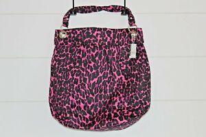 NWT New York & Company Leopard Print Slouchy Purse Tote Bag W/ Short Strap Nice!
