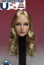 1/6 American European Female Head Sculpt B SUPER DUCK For Hot Toys Phicen USA