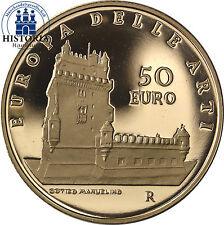 Italien 50 Euro Gold 2008 PP Europa der Künste: Portugal Manueline Gothic