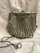 Vintage Beaded Purse Shell Art Deco Style