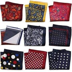Men Handkerchief Pocket Square Man Paisley Dot Chest Hankies For Wedding Suit