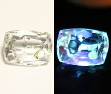 1.8ct Rare Faceted Fluorescent Petroleum Enhydro Oil Diamond Quartz Crystal