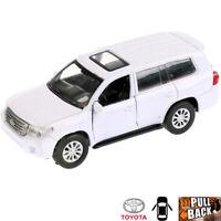 1:36 Scale Diecast Metal Model Car Toyota Land Cruiser White Die-cast Toy