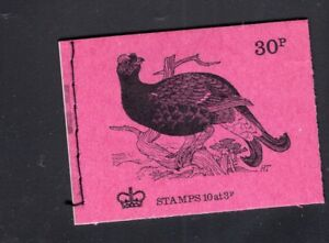 Great Britain October 1972  30p Black Grouse Bird  Machin  Booklet SG  DQ66